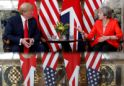Trump vows 'great' trade deal with UK, abruptly changing tack on May's Brexit plan